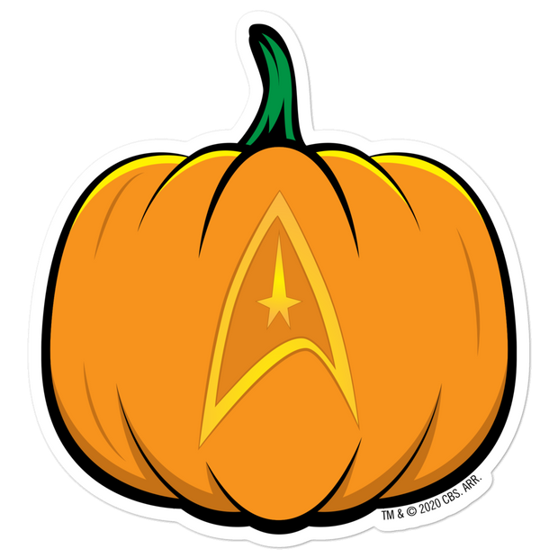 Star Trek: The Original Series Delta Pumpkin Die Cut Sticker