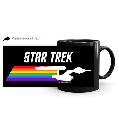 Star Trek: The Original Series Pride Enterprise Black Mug