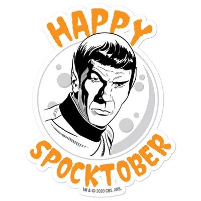 Star Trek: The Original Series Happy Spocktober Die Cut Sticker