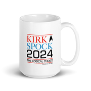 Star Trek: The Original Series Kirk & Spock 2024 White Mug