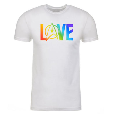 Star Trek: The Original Series Pride Love Adult Short Sleeve T-Shirt