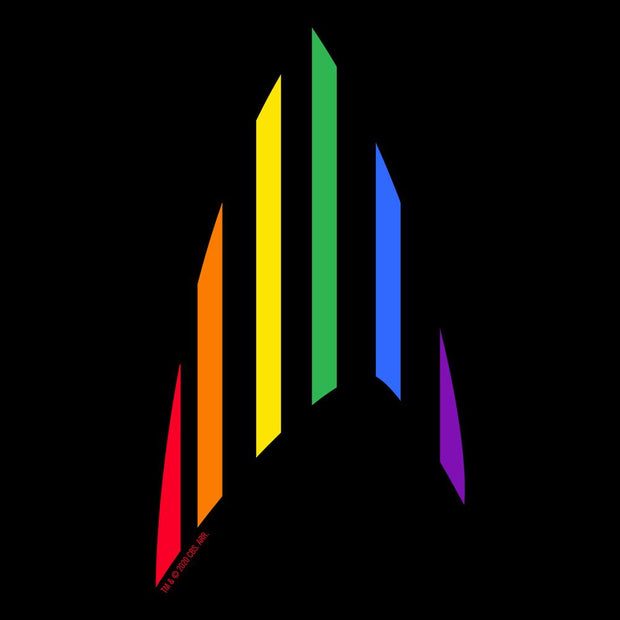 Star Trek: The Original Series Pride Rainbow Delta Black Mug