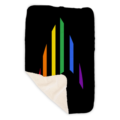 Star Trek: The Original Series Pride Rainbow Delta Fleece Blanket