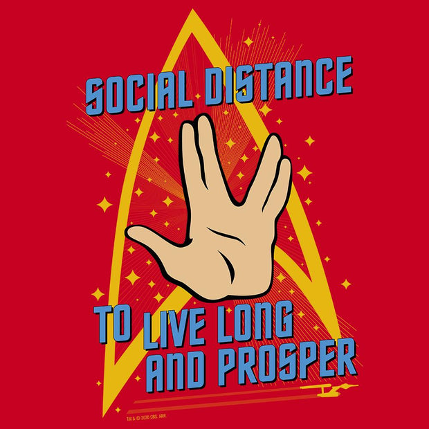 Star Trek: The Original Series Social Distance Adult Short Sleeve T-Shirt