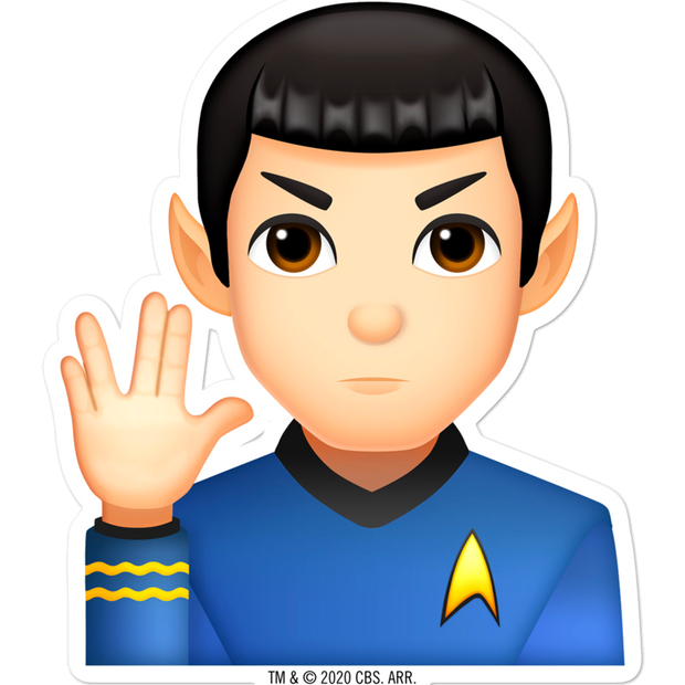 Star Trek: The Original Series Series Spock Emoji Die Cut Sticker