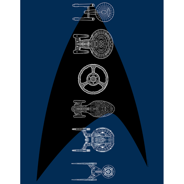Star Trek: The Original Series Ships of the Line Delta Fleece Blanket