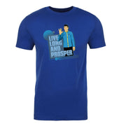 Star Trek: The Original Series Spock Live Long and Prosper Adult Short Sleeve T-Shirt