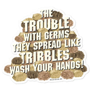 Star Trek: The Original Series Wash Your Hands Tribbles Stack Die Cut Sticker