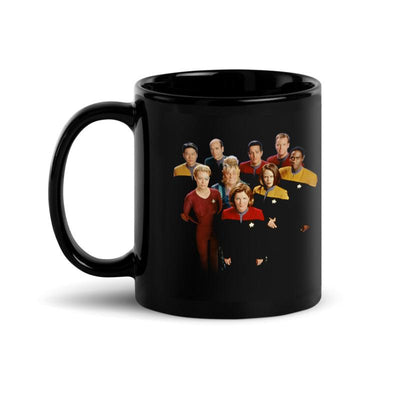 Star Trek: Voyager 25 Gold Crew 2 Black Mug