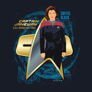 Star Trek: Voyager Captain Janeway Adult Short Sleeve T-Shirt