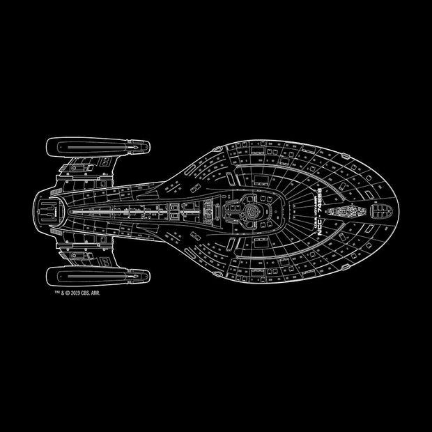 Star Trek: Voyager Schematic Adult Short Sleeve T-Shirt