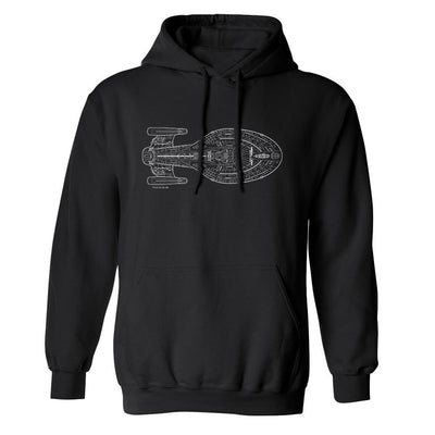 Star Trek: Voyager Schematic Fleece Hooded Sweatshirt