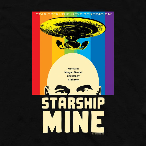 Star Trek: The Next Generation Juan Ortiz Starship Mine Adult Short Sleeve T-Shirt