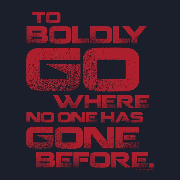 Star Trek To Boldly Go Adult Short Sleeve T-Shirt