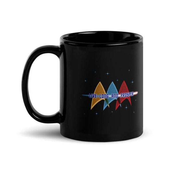 Star Trek: The Original Series Live Long and Prosper Deltas Black Mug