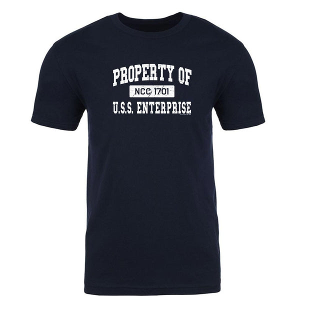 Star Trek: The Original Series Property of U.S.S. Enterprise 1701 Adult Short Sleeve T-Shirt