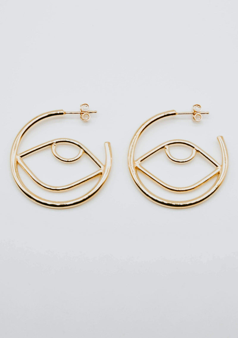 Cleo Hoops- Gold