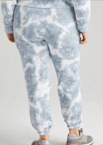Recycled Fleece Sweatpant - Blue Mirage Tie Dye