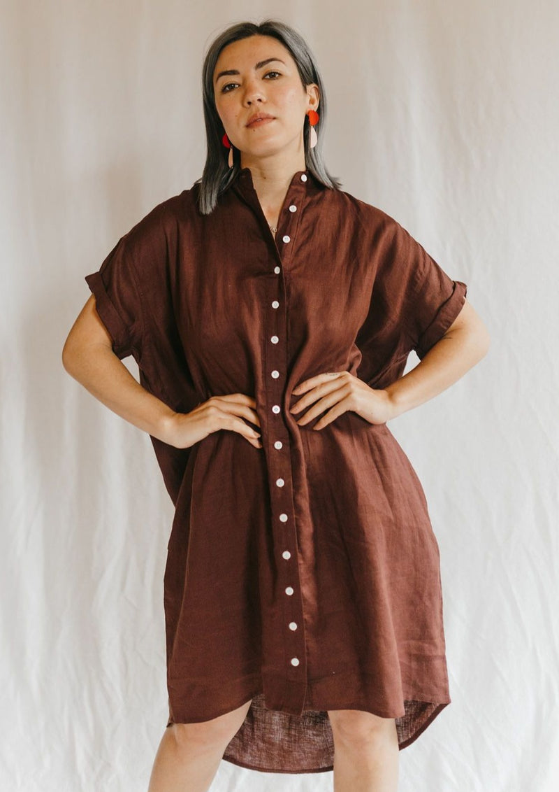 Rhodes Shirt Dress by Olympia.