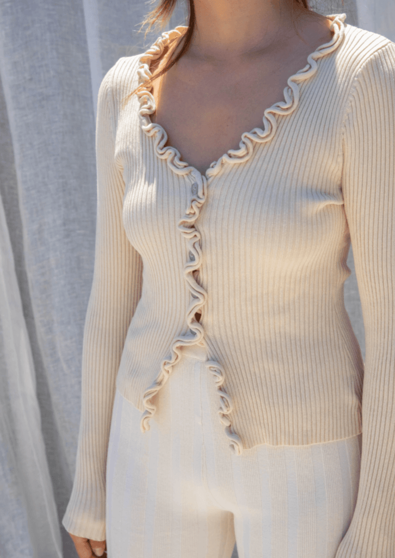 Charlie Ruffled Knit - Cream