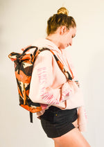 Monkey Print Backpack