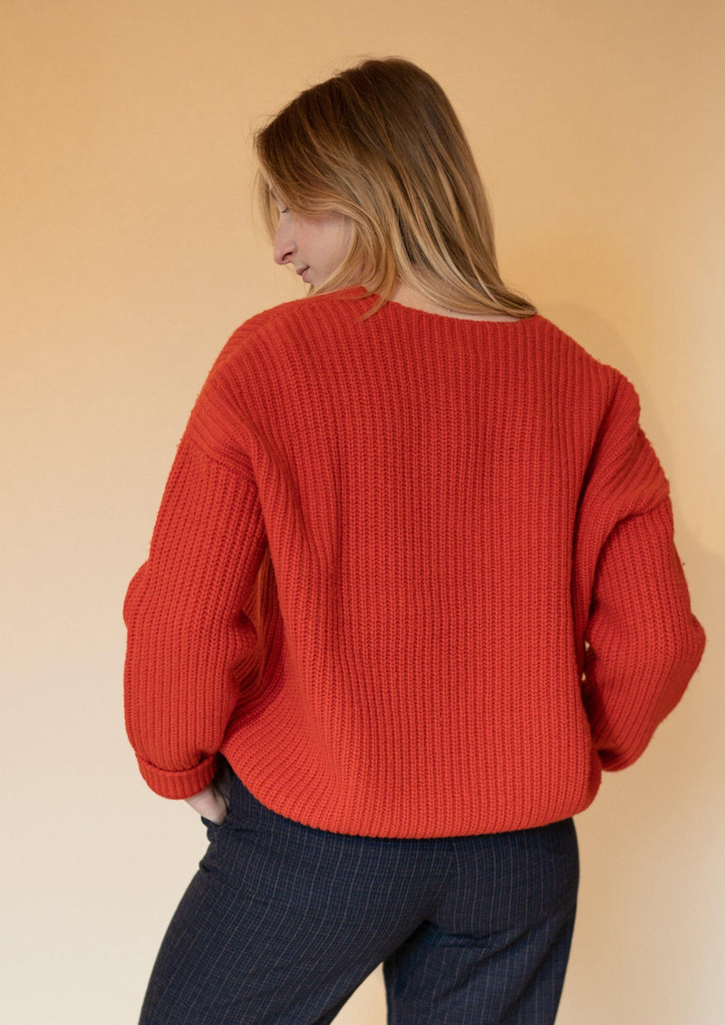 Flame Orange Hennie Sweater