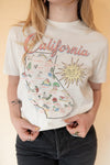 California Map Tee