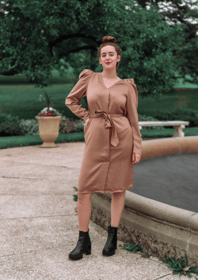 Cady Walnut Dress