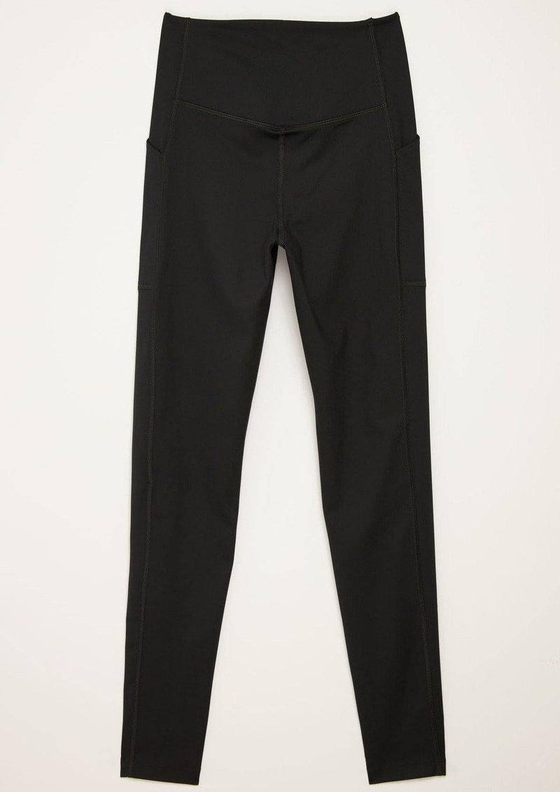 Black High-Rise Pocket Legging 23 3/4""