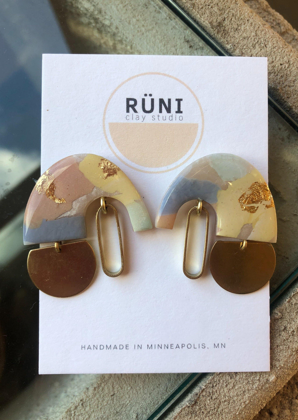Astraea Earrings in Pastel Mix 2 by Runi Clay.