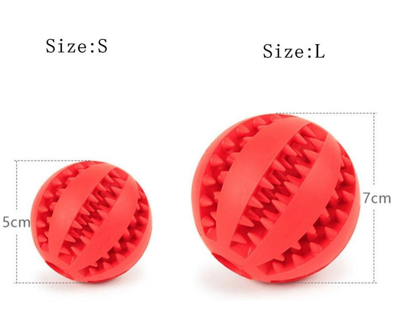 Extra-tough chewing rubber ball Pets ThinkThingz
