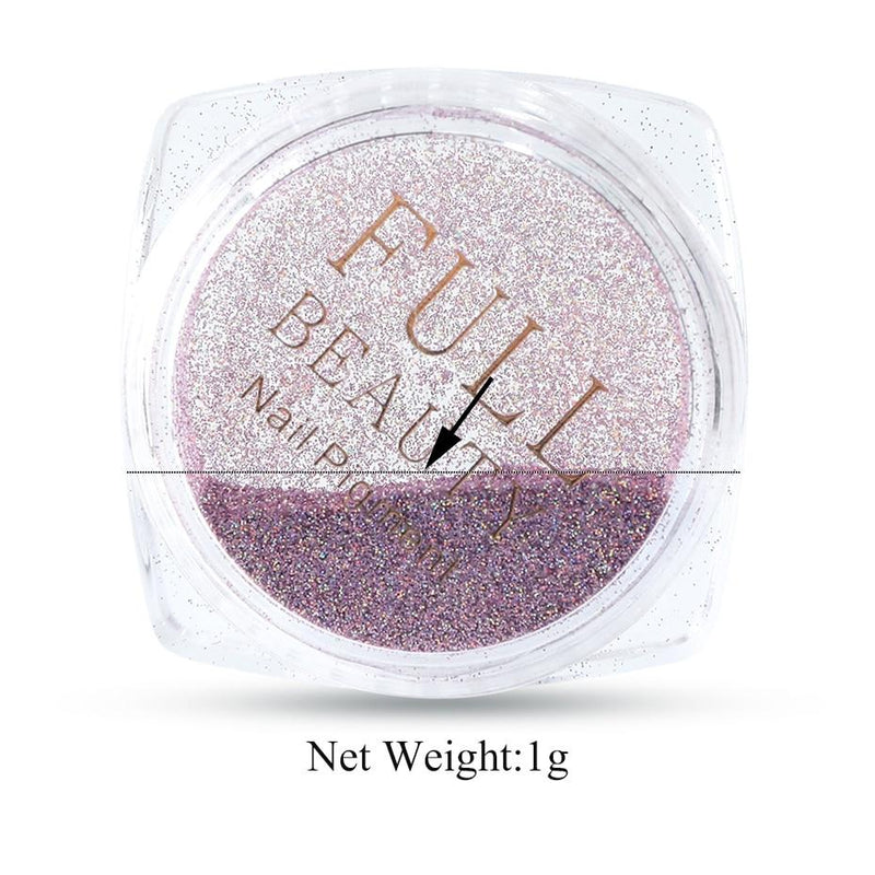 Holographic shimmery nail color powder Beauty ThinkThingz