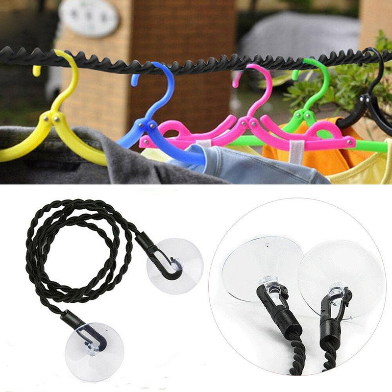 Suction cup rope clothesline Travel ThinkThingz