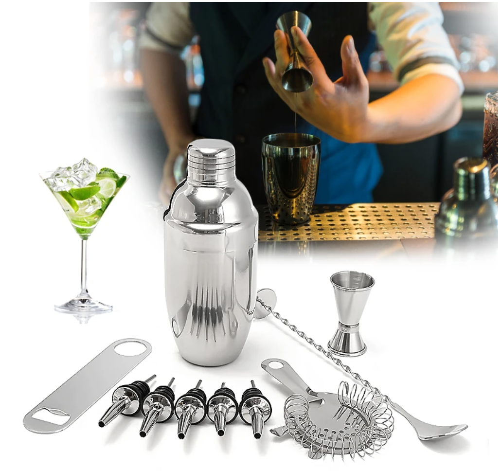 Mixer's Paradise 11pc Cocktail Shaker Set Bartender Kit For Mixologists And Home Bartender sets