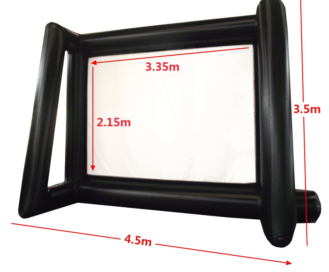 Inflatable Movie Screen For Outdoor Blow Up Projector Screen 4.5X3M