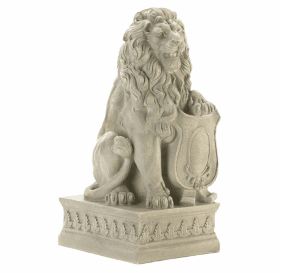 Guardian Lion Statue for Gardens, Lawns, Driveways and Home Accent Decor