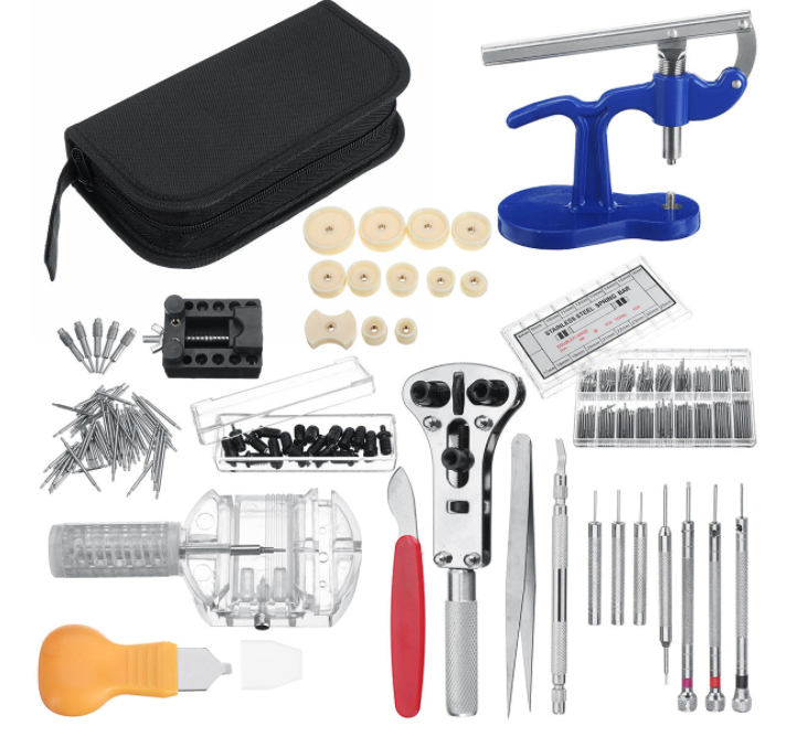 Horologist 399pcs/517pcs Watch Repair Kit Tool Kit For Professional And Amateur Watch Tool Kit Repair Needs