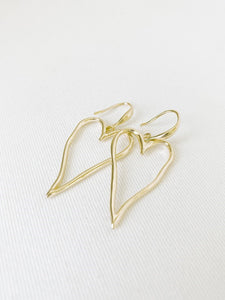 Cara- 2342 Drop Heart Earrings