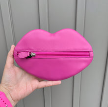 Load image into Gallery viewer, Leather Lip Shaped Cosmetic Pouch
