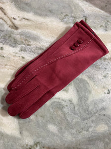 Suede Gloves With Buttons