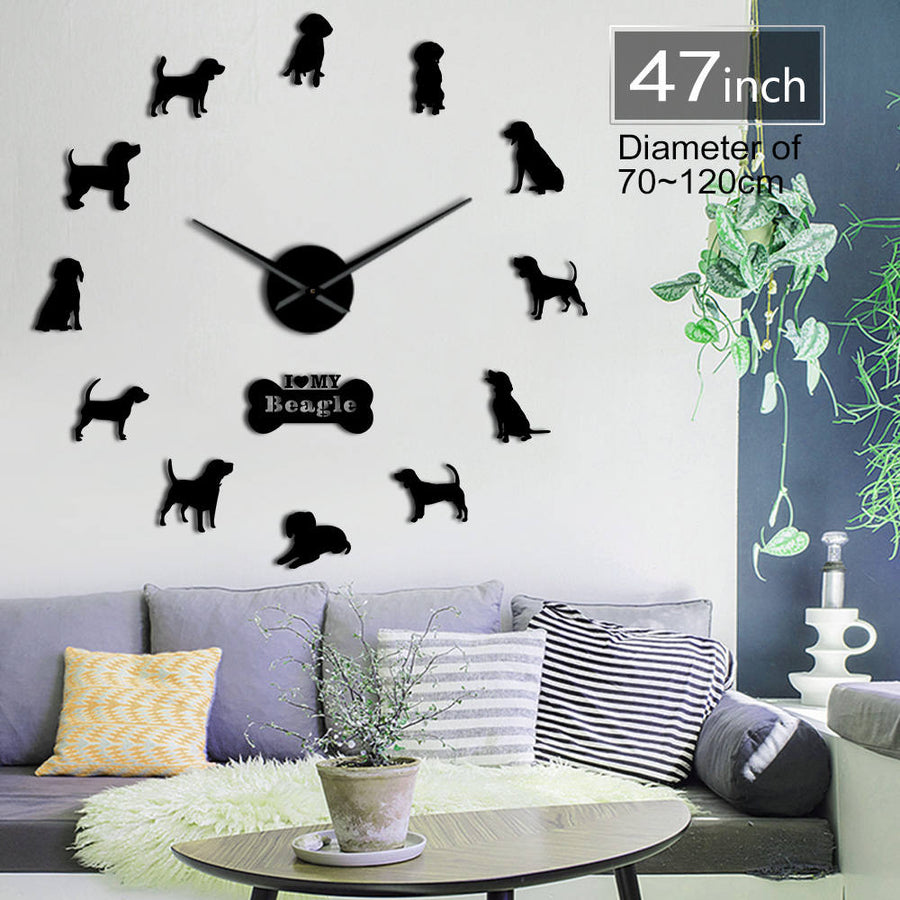 Marshall Beagle Oversized 3D DIY Wall Clock