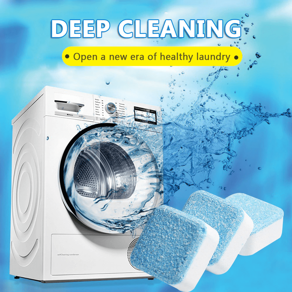 WASHING MACHINE DEEP CLEANING TABLETS - 5 Pcs