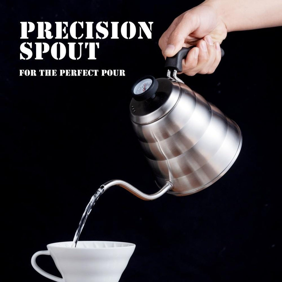 Stainless Steel Tea/Coffee Kettle with Thermometer