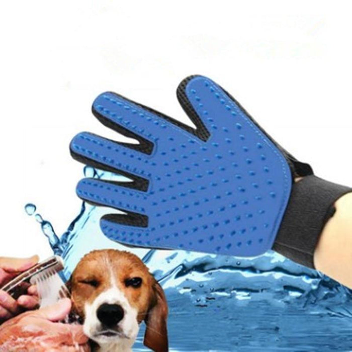 PET BRUSH GLOVE FOR GROOMING/CLEANING CATS & DOGS (SILICONE)