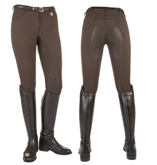 HKM Riding Breeches - Dots - Full Silicone Seat