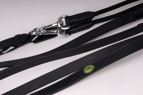 Rhinegold Leather & Rope Draw Reins