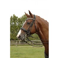 GFS PDS Patent Rolled Weymouth/Double Bridle - with reins