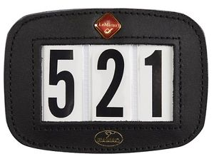 LeMieux Hamag Leather Saddle Pad Number Holder