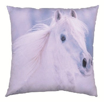 Pillow with Grey Horse Design
