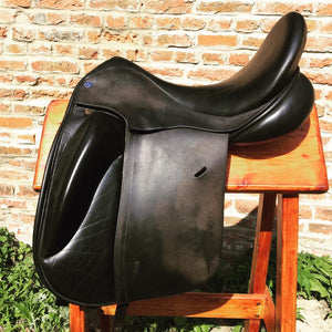 "Paul Fielder Dressage Saddle - Used - 17.5"" - MW"